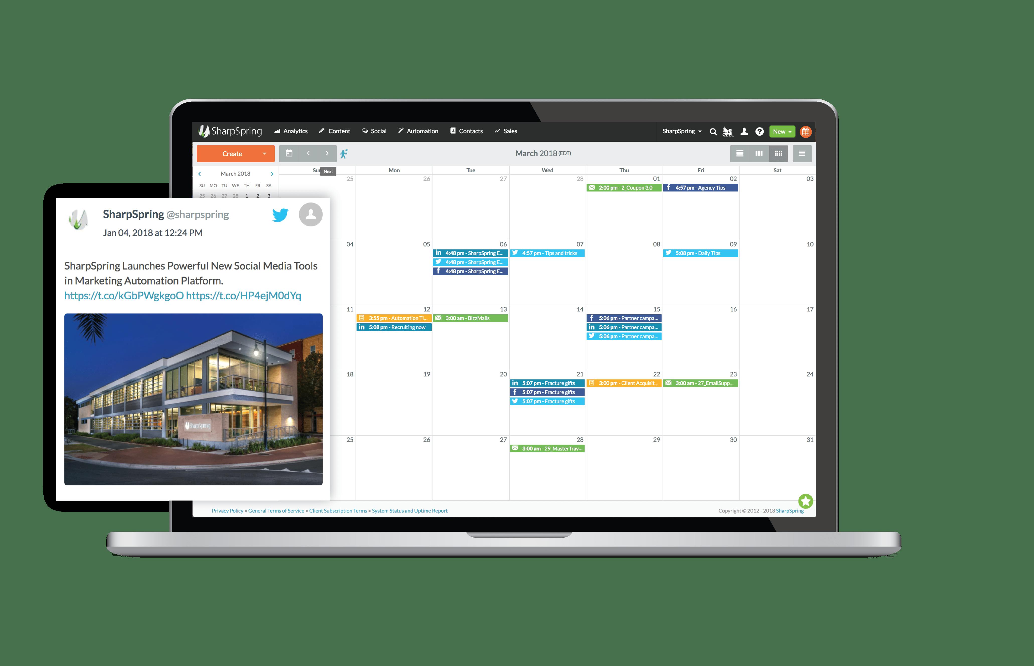 SharpSpring Social Media Content Calendar
